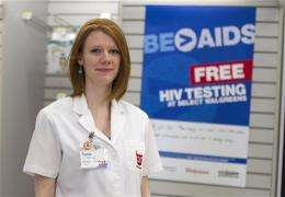 US trying out free rapid AIDS test at drugstores