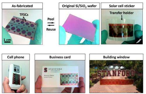 Peel-and-Stick solar panels from Stanford engineering