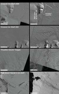 West Antarctic ice shelves tearing apart at the seams