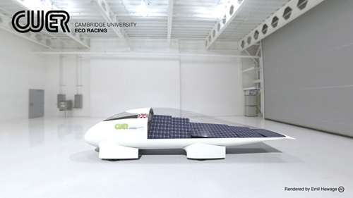 Eco Race team launch their 2013 solar-powered vehicle