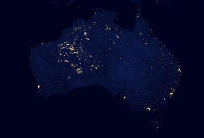 Wildfires light up western Australia