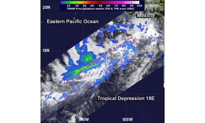 2 satellites see new Eastern Pacific tropical depression form