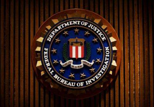 A crest of the Federal Bureau of Investigation is seen on August 3, 2007 in Washington, DC