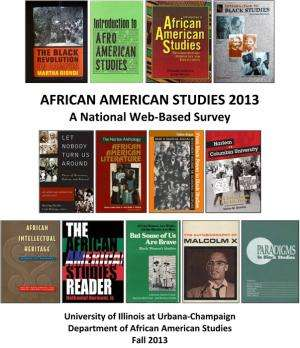 African American studies in the US 'is alive and well,' new report says