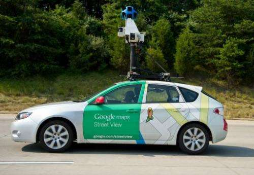 A Google Street View vehicle collects imagery in Virginia on June 28, 2012