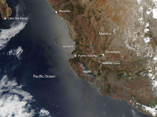 Agricultural fires in western Mexico