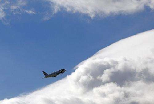 An Airbus A320 airplane takes off at Paris Roissy Charles de Gaulle airport, north of Paris on October 5, 2012