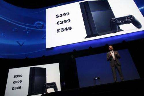 Andrew House, Sony President and CEO, announces the pricing for PS4 consoles at a press conference on June 10, 2013