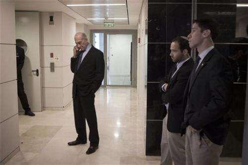 AP Interview: Israel's Olmert begins tech venture
