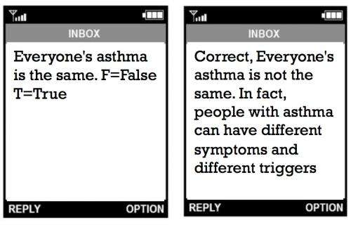 A text message a day keeps the asthma attack away