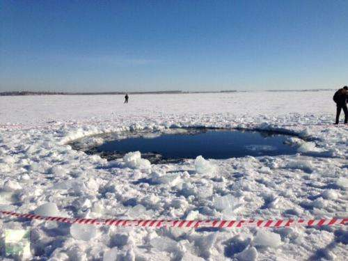 Big meteorite chunk found in Russia's Ural Mountains