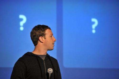 Facebook CEO Mark Zuckerberg speaks at an event at Facebook's headquarters in Menlo Park, California, January 15, 2012