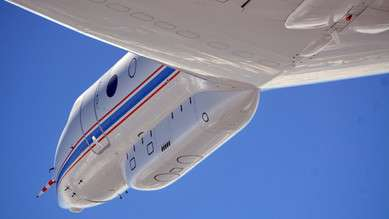 First measurement flight: Research aircraft HALO explores trade wind clouds