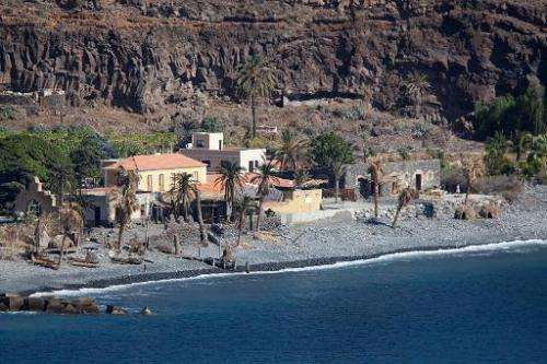 General view taken on November 22, 2013 a house on a beach in Playa de Santiago, on the Spanish Canary island of La Gomera