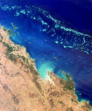 Image taken by NASA's MISR on August 26, 2000 shows the Great Barrier Reef, which extends for some 2,300 kilometres