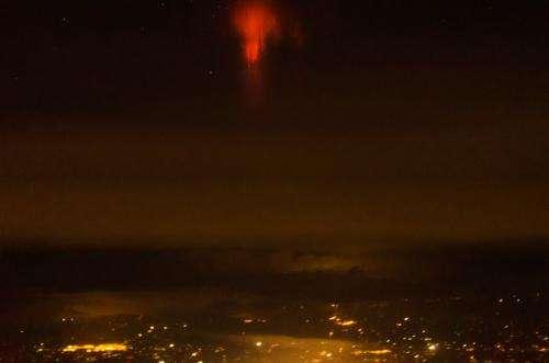 Is it a bird, a plane, a UFO?  It's a...red sprite