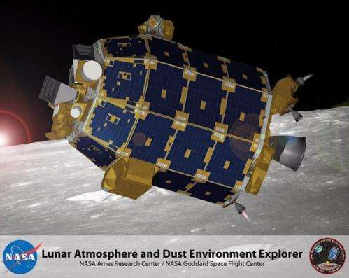 LADEE lunar probe unveiled at NASA's wallops launch site in Virginia