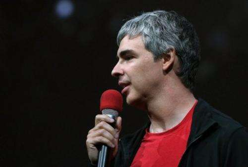 Larry Page, Google co-founder and CEO speaks on May 15, 2013 in San Francisco, California