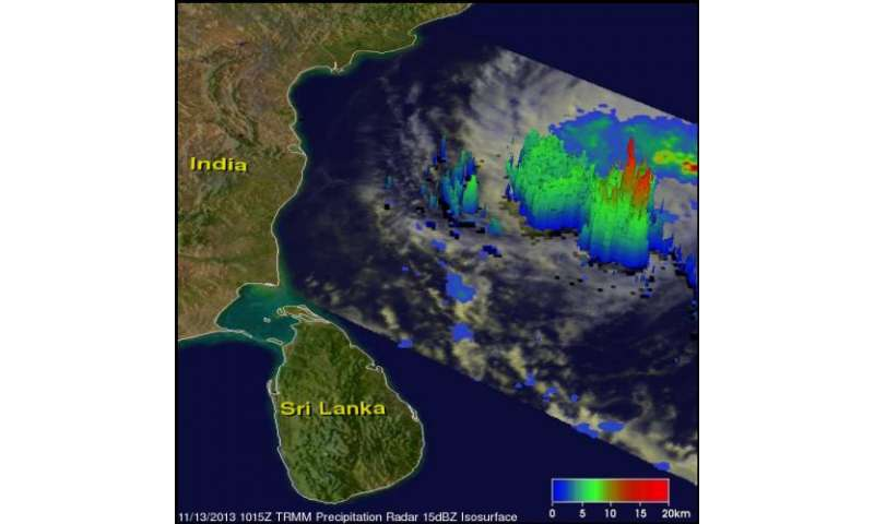 Latest storm updates NASA satellites see Cyclone 03A make landfall in Somalia Tropical Cyclone 03A