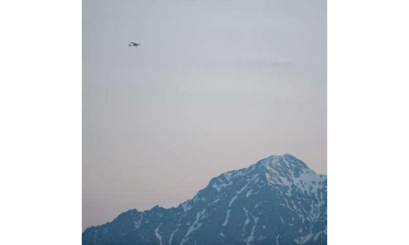 Matevz Lenarcic, pilot, biologist and photographer adventurer, begins his flight over North Pole, April 22, 2013