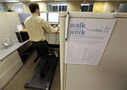 More people exercise while they work