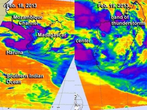 NASA saw Tropical Storm Haruna come together