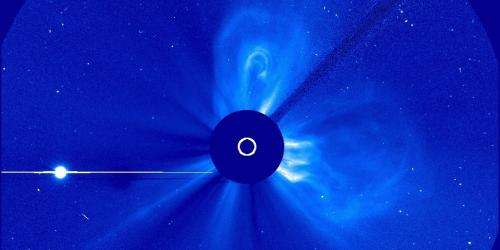 NASA sees 3 coronal mass ejections