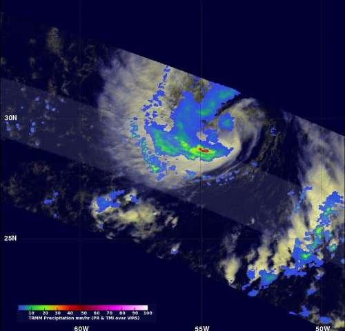 NASA sees late season subtropical storm Melissa form in Atlantic