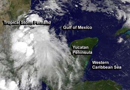 NASA sees quick forming Tropical Storm Fernand soaking Mexico