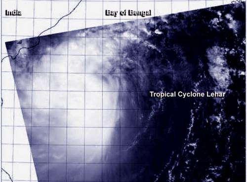 NASA watches as India braces for Tropical Cyclone Lehar
