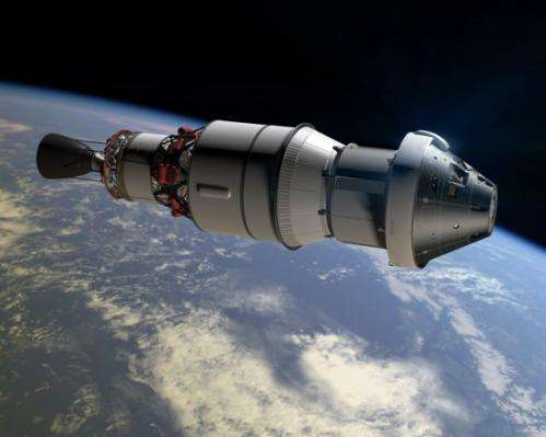 Orion capsule accelerating to 2014 launch and eventual asteroid exploration