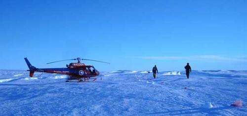 Research team uses innovative techniques to map water beneath Antarctic ice shelf