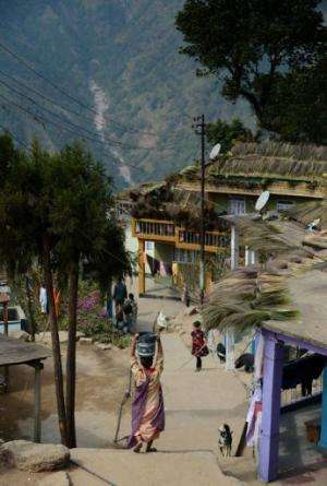 Residents of a village in Mawsynram in the north-eastern Indian state of Meghalaya, February 3, 2013