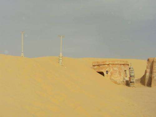 Sand dunes swallowing Anakin Skywalker's hometown