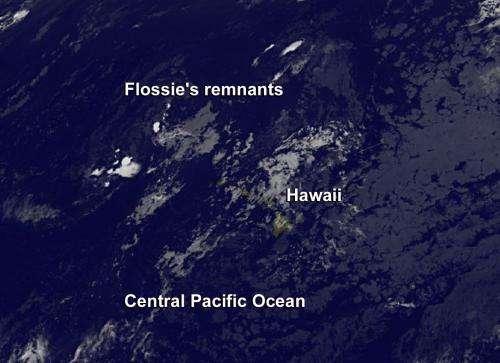 Satellite sees Flossie fizzle fast