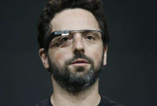Sergey Brin, co-founder of Google, wears the Google Glass on June 27, 2012 in San Francisco