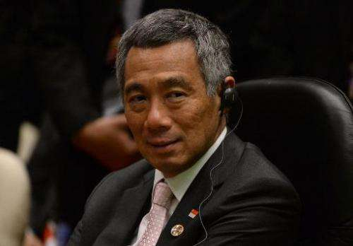 Singapore Prime Minister Lee Hsien Loong, pictured during the 16th ASEAN-Korea summit on the sidelines of the 23rd summit of the