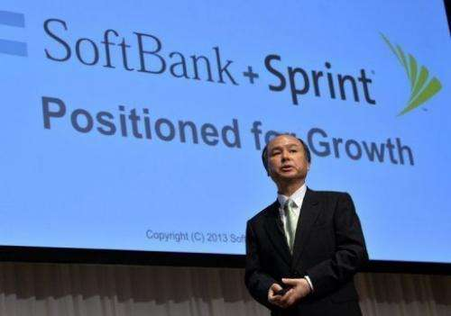 Softbank president Masayoshi Son speaks during a press conference in Tokyo, on April 30, 2013