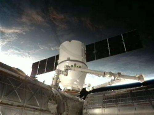 Tamed Dragon supply ship arrives at space station