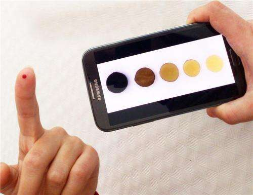 The amount of iron in our blood can be measured using a mobile phone