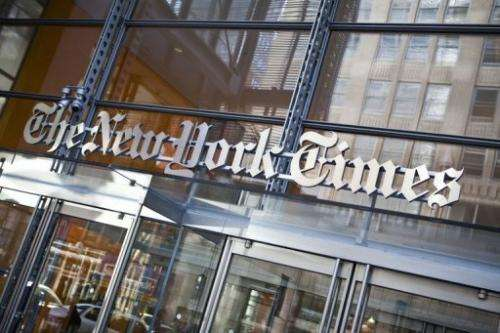 The New York Times beat most forecasts with a profit amounting to 32 cents a share excluding special items