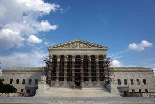 The US Supreme Court in Washington, DC on October 5, 2013