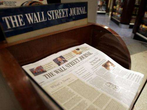 The Wall Street Journal said its computers were hit by Chinese hackers