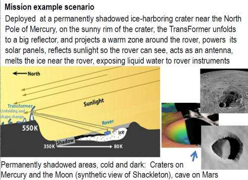 'TransFormers' could beam light into permanently shadowed craters