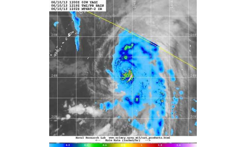 NASA sees Tropical Storm Yagi spinning in Western Pacific Ocean