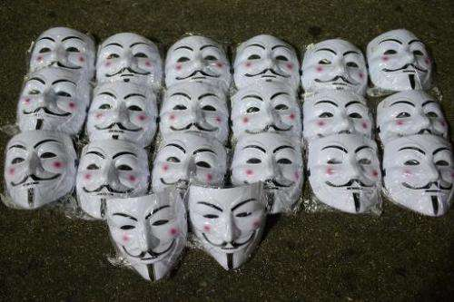 Illustration: Anonymous hackers, who have used the Guy Fawkes mask as a symbol of their group, have hacked the Straits Times new