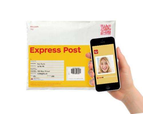 Illustration: Australia's mail service has developed a high-tech postage stamp which allows the sender of a parcel to deliver a