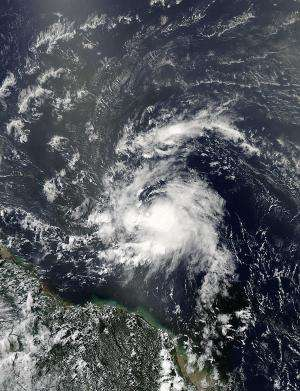 NASA sees Tropical Storm Chantal's heavy rainfall and towering thunderstorms