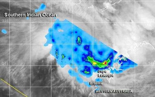 NASA's TRMM satellite sees new Tropical Depression forming near Australia's Kimberly coast