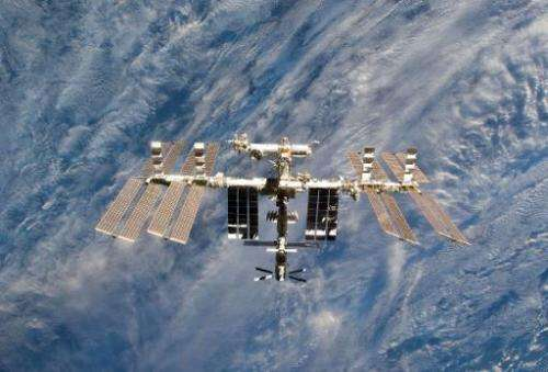 A close-up view of the International Space Station, pictured on March 7, 2011